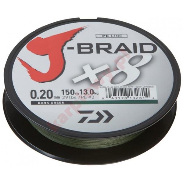 Plecionka J-Braid X8 0,06mm-150m Green