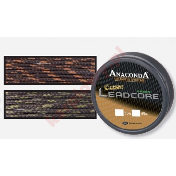 Camou leadcore 45lb 10m camou brown