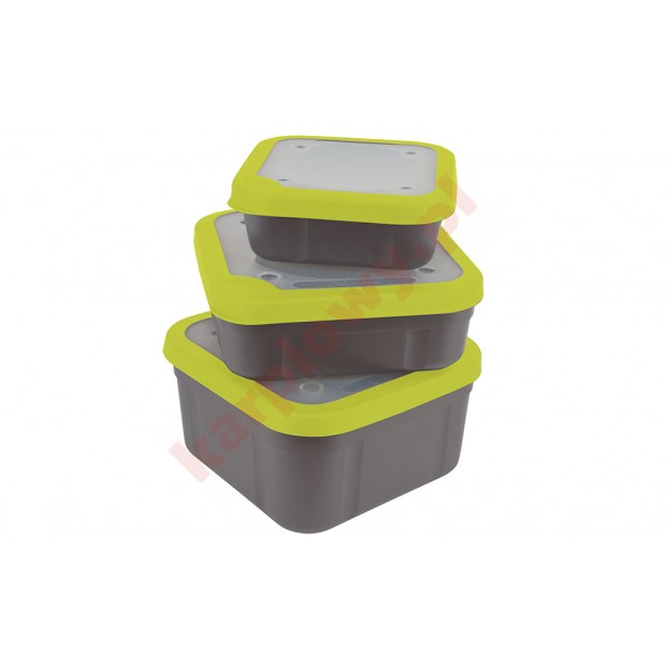 Pudełko grey/lime bait box 1.1pt