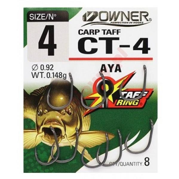 Haczyki carp taff ct4 4 czarny nsb 8szt.