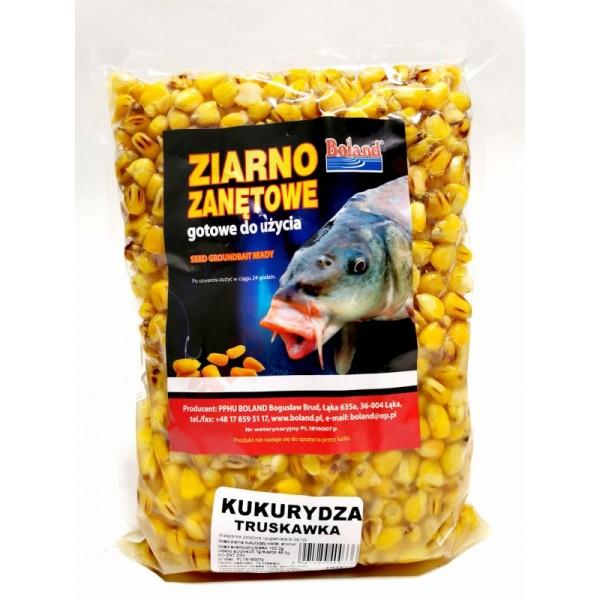 Ziarna zanętowe gotowe do użycia - kukurydza - truskawka 1kg