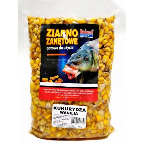 Ziarna zanętowe gotowe do użycia - kukurydza - wanilia 1kg