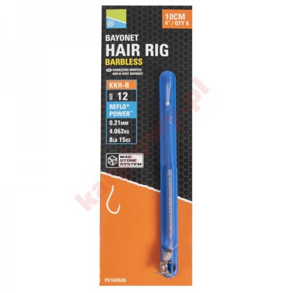 """Przypony KKH-B Mag Store Hair Rigs - 4"""" / BAYONET / roz.12"""
