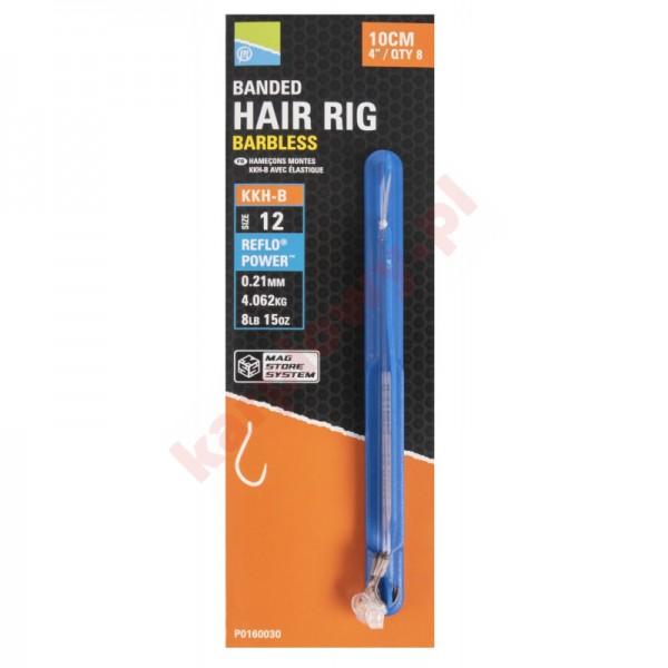 """Przypony KKH-B Mag Store Hair Rigs - 4"""" / BANDED / roz.16"""