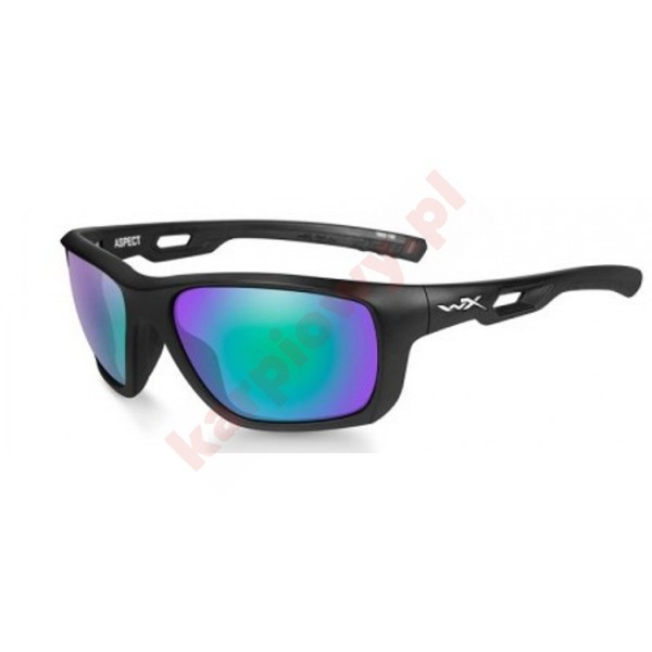 ASPECT Polarized Emerald Mirror Matte Black Frame