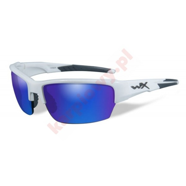SAINT Polarized Blue Mirror Gloss White Frame