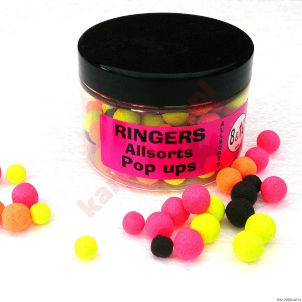 Kulki pop-up allsorts boilies 8mm & 10mm