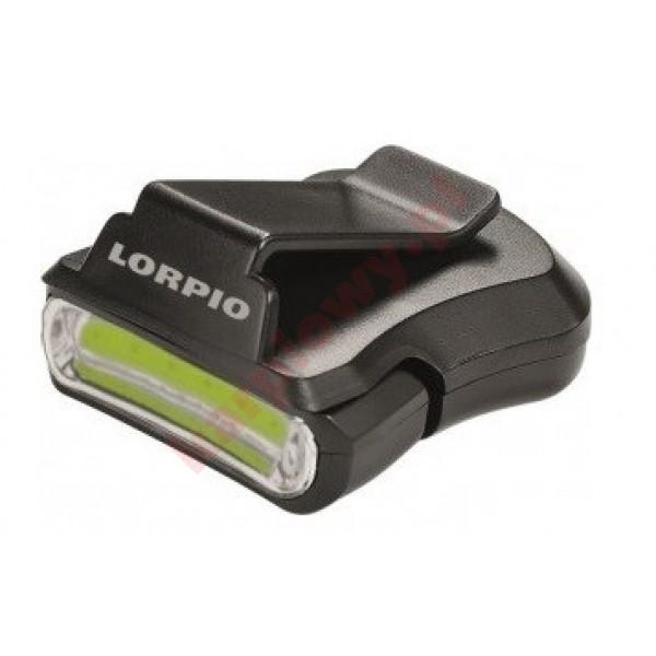 Latarka COB LED z klipsem na daszek