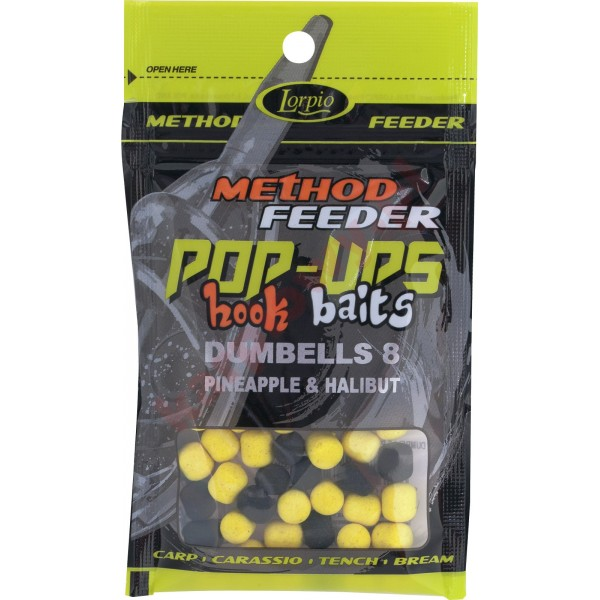 Kulki pop-ups hook baits dumbells pineapple & halibut 8x10 / 15g