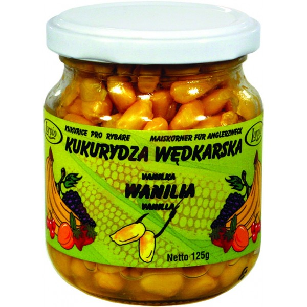 Kukurydza aromatyzowana barwiona bez zalewy - wanilia 125g