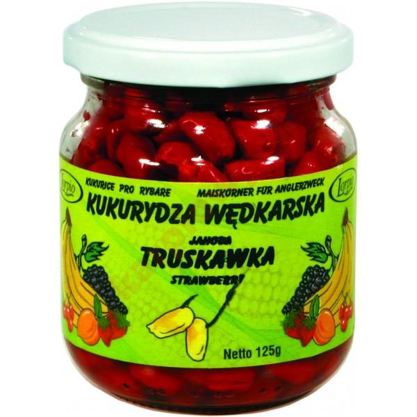 Kukurydza aromatyzowana barwiona bez zalewy - truskawka 125g