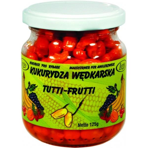 Kukurydza aromatyzowana barwiona bez zalewy - tutti frutti 125g