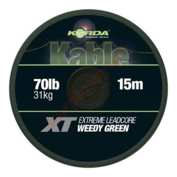 Kable XT Extreme Leadcore 70lb 15m Green