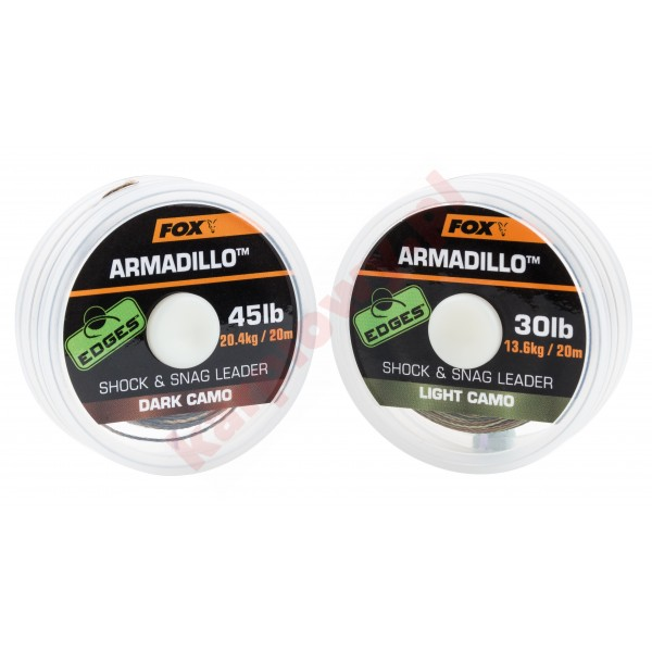 Edges Armadillo Shock & Snag Leader 30lb 20m Light Camo