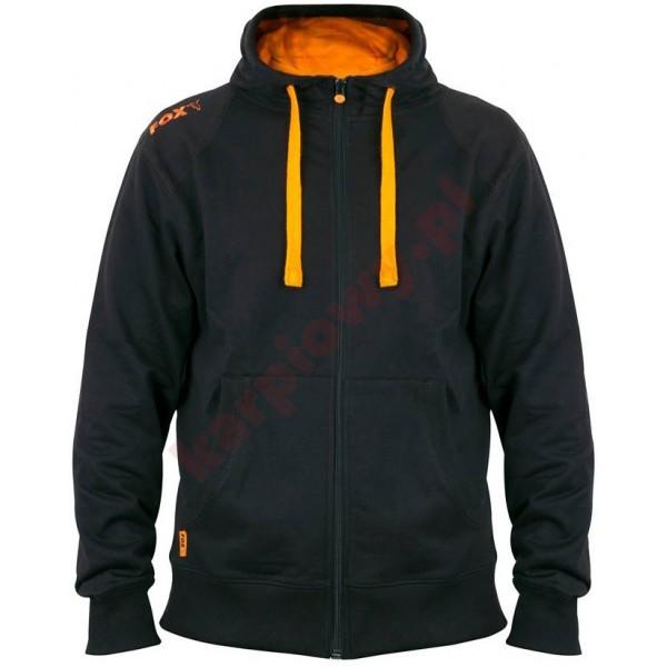 Black & Orange Lightweight Zipped Hoody - Large