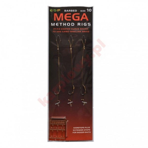 Gotowe przypony - mega method rigs 10/15lb  3szt