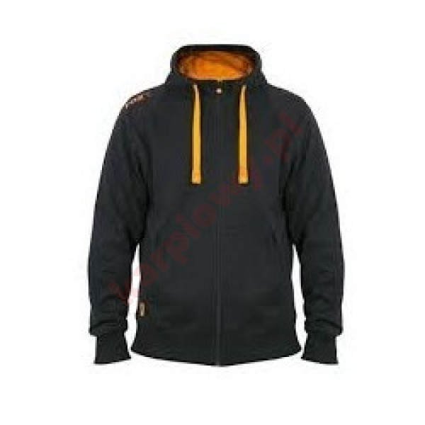 Black & Orange Lightweight Zipped Hoody - XXLarge