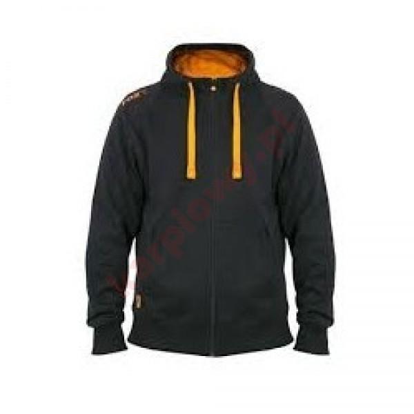 Black & Orange Lightweight Zipped Hoody - XXLarge