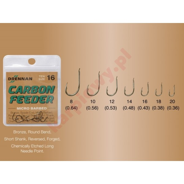 Haczyki - carbone feeder nr 14 / 10szt