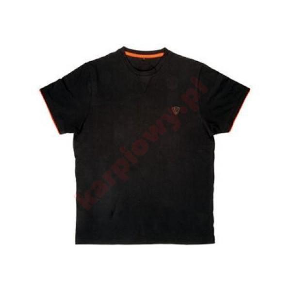 Black Orange Brushed Cotton T-Shirt XXL