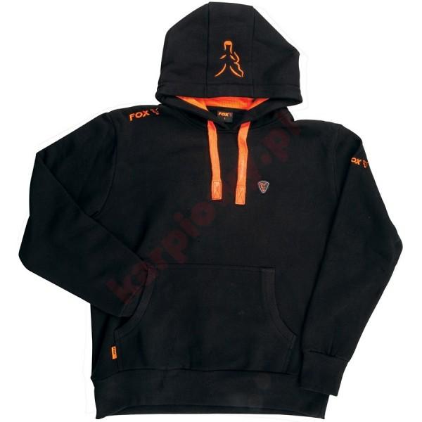 Black Orange Hoodie LARGE