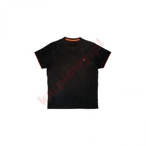 Black Orange Brushed Cotton T-Shirt XL