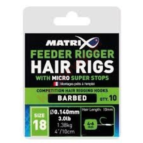 FEEDER RIGGER HAIR RIGS SIZE 18 0,14mm