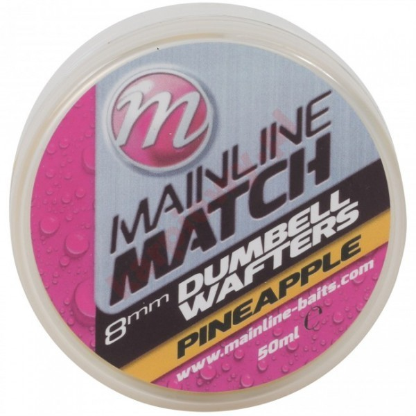 MATCH DUMBELL WAFTERS 8mm YELLOW PINEAPPLE