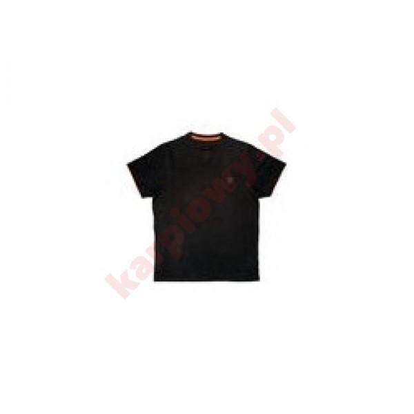 BLACK ORANGE BRUSHED COTTON T-SHIRT M