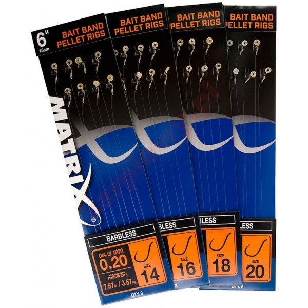 4'' METHOD BAND SIZE 20 BARBLES 0,18mm