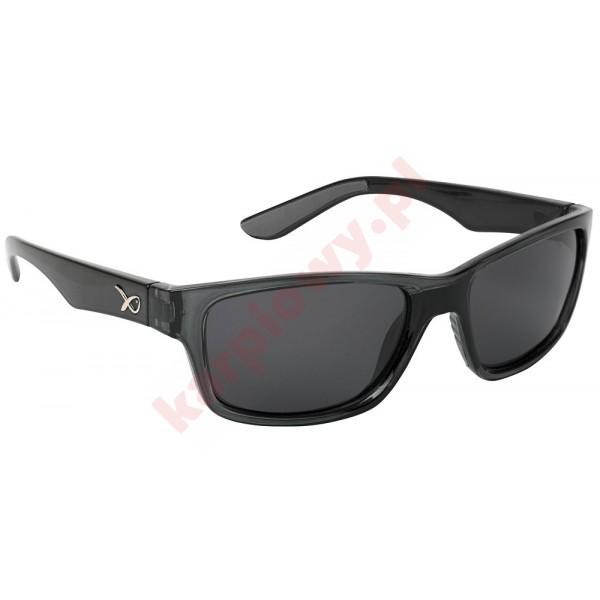Okulary - glasses casual trans black / grey