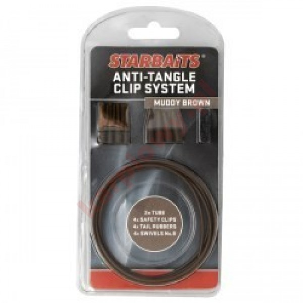 ANTI TANGLE CLIP SYSTEM 4szt BRĄZOWY
