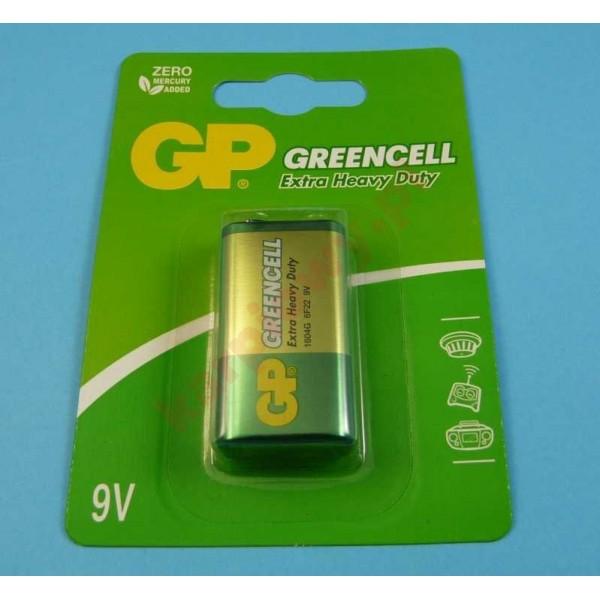 Bateria 9V greencell  extra heavy duty 6F22 | cena za sztukę