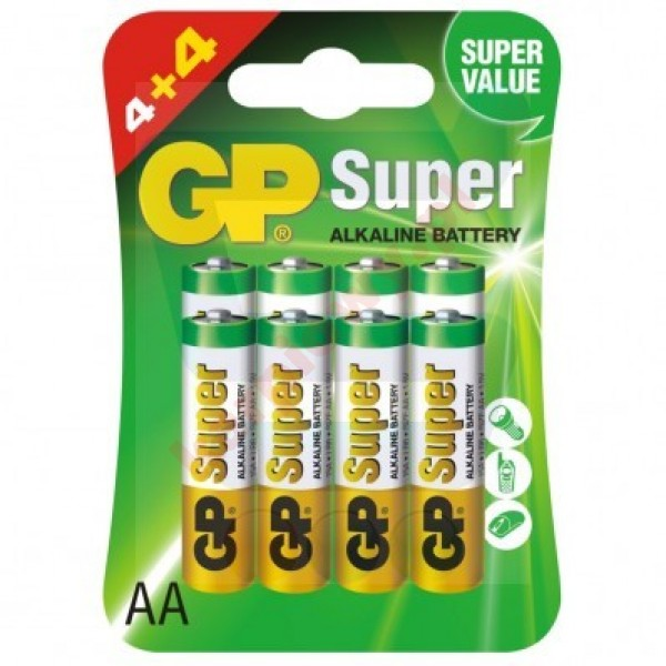 LR6 GP SUPER ALKALINE BATERIE 15A-5U | CENA ZA SZTUKĘ
