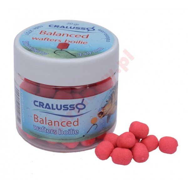 DUMBELLS BALANCED 7x9mm 20g STRAWBERRY