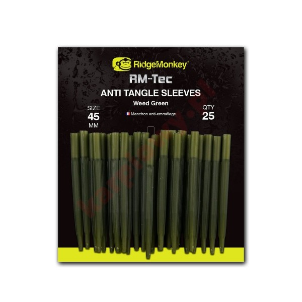 Anti Tangle Sleeves 45mm Weed Green