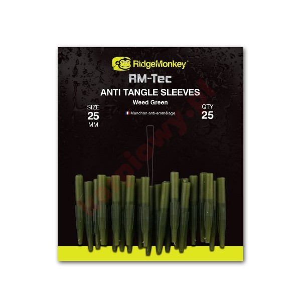 Anti tangle sleeves 25mm weed green