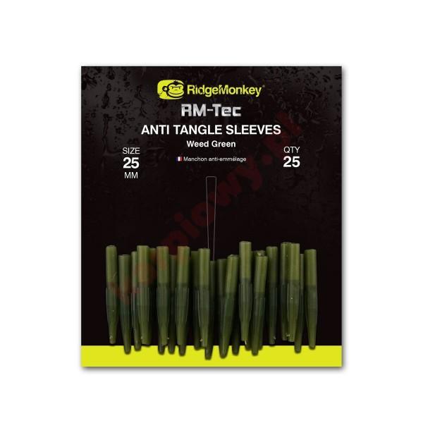 Anti Tangle Sleeves 25mm Weed Green