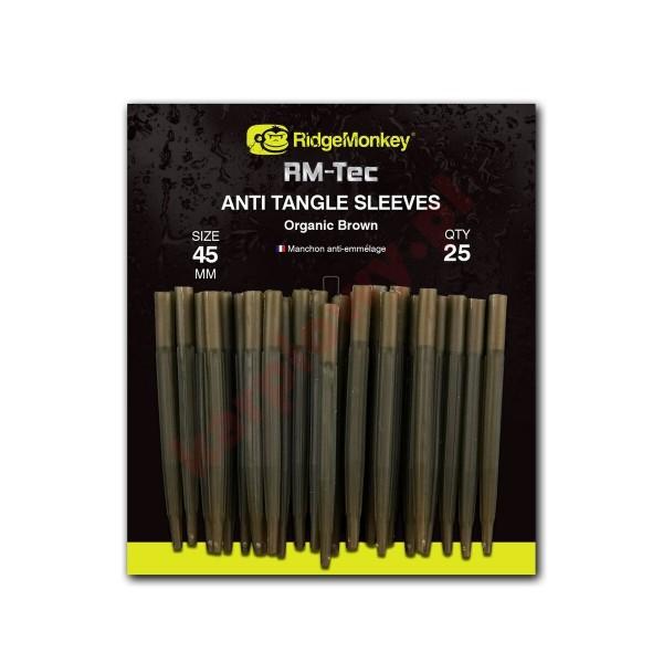 Anti tangle sleeves 45mm organic brown
