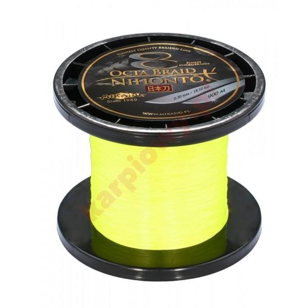 Plecionka nihonto octa braid 0.14mm yellow 900m