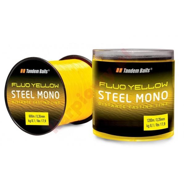 Żyłka steel mono fluo żółta 1200m / 0,35mm